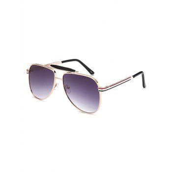 Crossbar Anti UV Pencil Leg Pilot Sunglasses