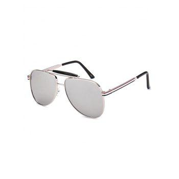 Anti UV Pencil Leg Pilot Mirrored Sunglasses