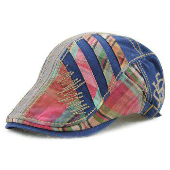 Sewing Thread Plaid Stripy Cabbie Newsboy Cap