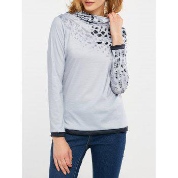 Cheetah Print Long Sleeve Hooded T-Shirt