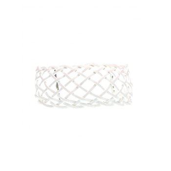 Braided Geometric Grid Choker Necklace