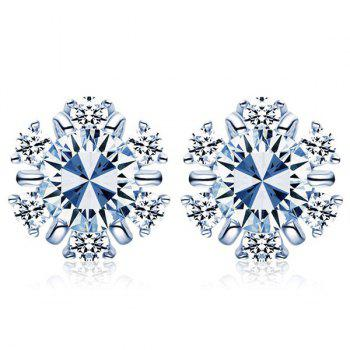 Pair Of Snowflake Stud Earrings