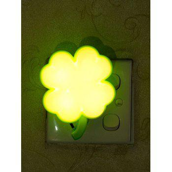 USB Charging Clover Shape Room Decor LED Night Light