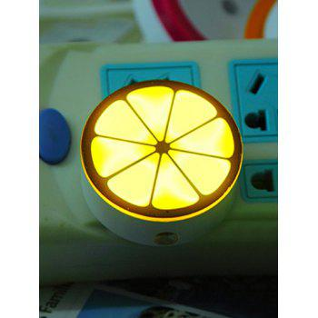 USB Charging Lemon Shape Room Decor LED Night Light