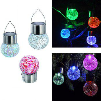 Colorful 4PCS/Set Solar Power Hanging Bulb Light