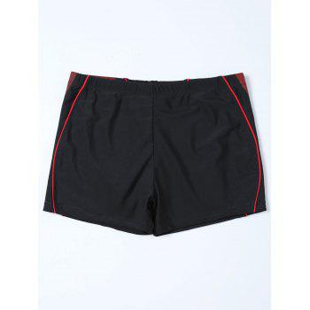 Graphic Contrast Boyshorts Swim Bottom - 4XL 4XL