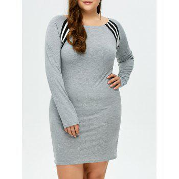 Plus Size Raglan Sleeve Mini Sheath Dress