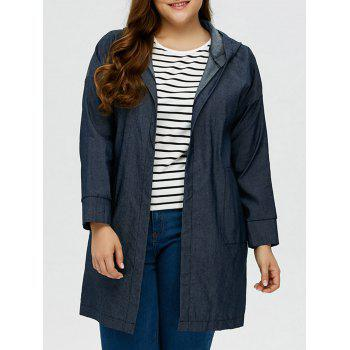 Plus Size Denim Coat