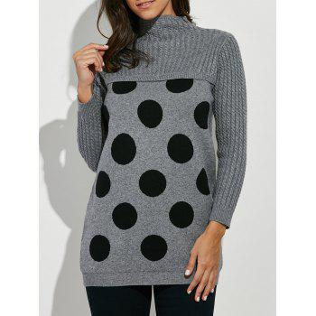 Polka Dot Mock Neck Sweater
