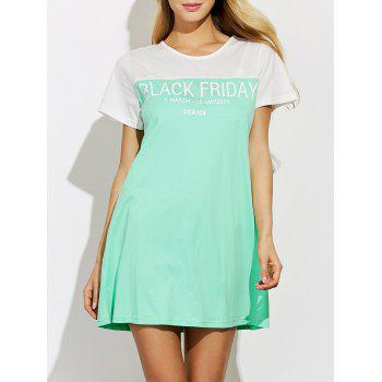 Short Sleeve Lounge Tee Dress