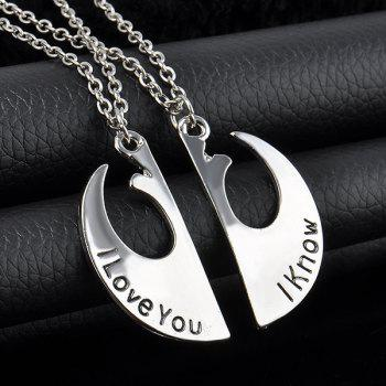 Engraved Love Couple Necklaces