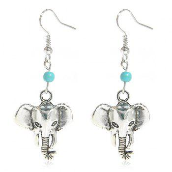Faux Turquoise Elephant Earrings