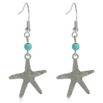 Faux Turquoise Starfish Earrings