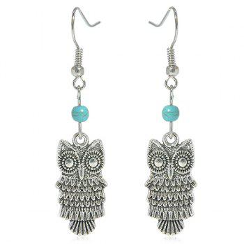 Faux Turquoise Owl Earrings