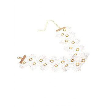 Lace Flower Choker Necklace - WHITE