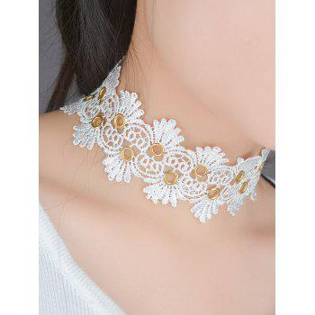 Lace Flower Choker Necklace