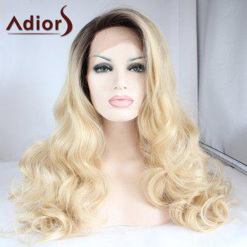 Adiors Long Side Parting Color Mixed Wavy Lace Front Synthetic Wig