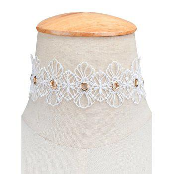 Openwork Lace Floral Choker Necklace
