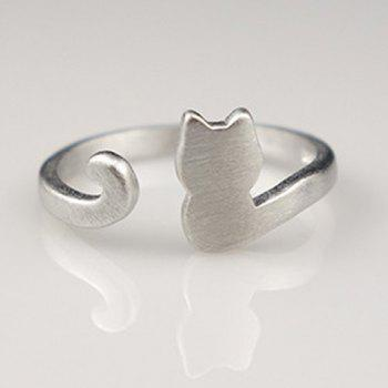 Cat Shape Open Ring