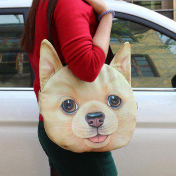 3D Print Dog Face Shaped Shoulder Bag