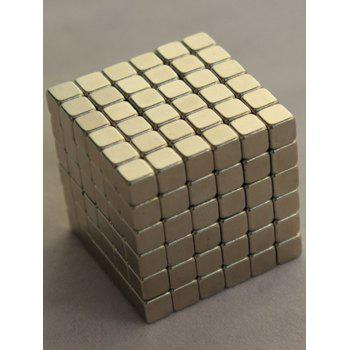 3MM Square Magnetic Speed Puzzle Magic Cube Education Toy - SILVER SILVER