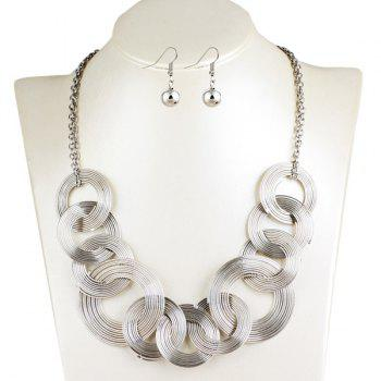 Round Metallic Jewelry Set