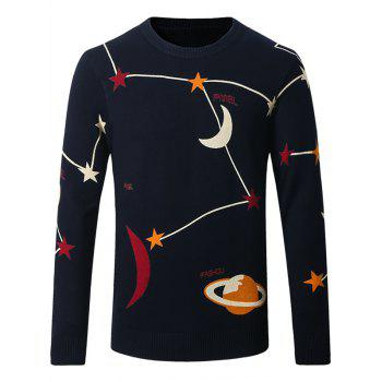 Star and Moon Pattern Thicken Sweater