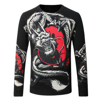 Eight Diagrams Dragon Pattern Thicken Sweater