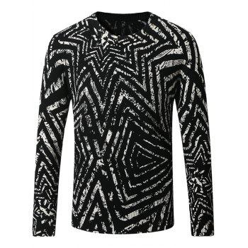 3D Geometric Pattern Thicken Sweater