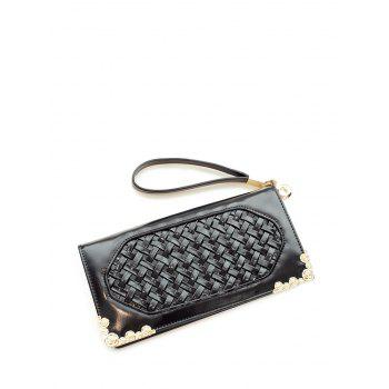 Weaving PU Leather Clutch Wallet