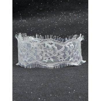 Hollowed Eyelash Lace Choker Necklace