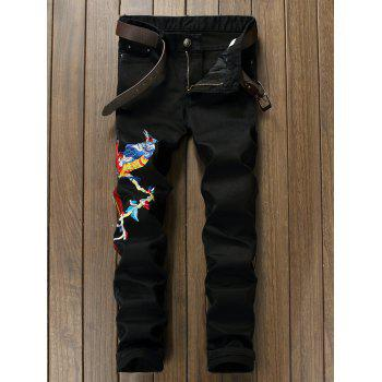 Phoenix Embroidered Narrow Feet Jeans