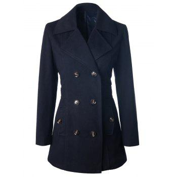 Self Tie Double Breasted Pea Coat