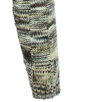Crew Neck Weave Pattern Knitted Sweater - L L