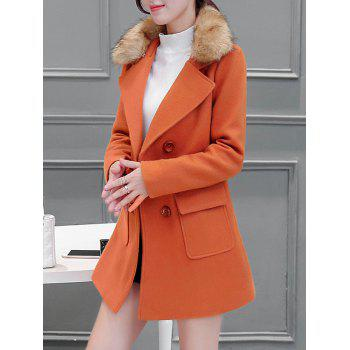 Col en fourrure Poches Walker Peacoat - Orange M