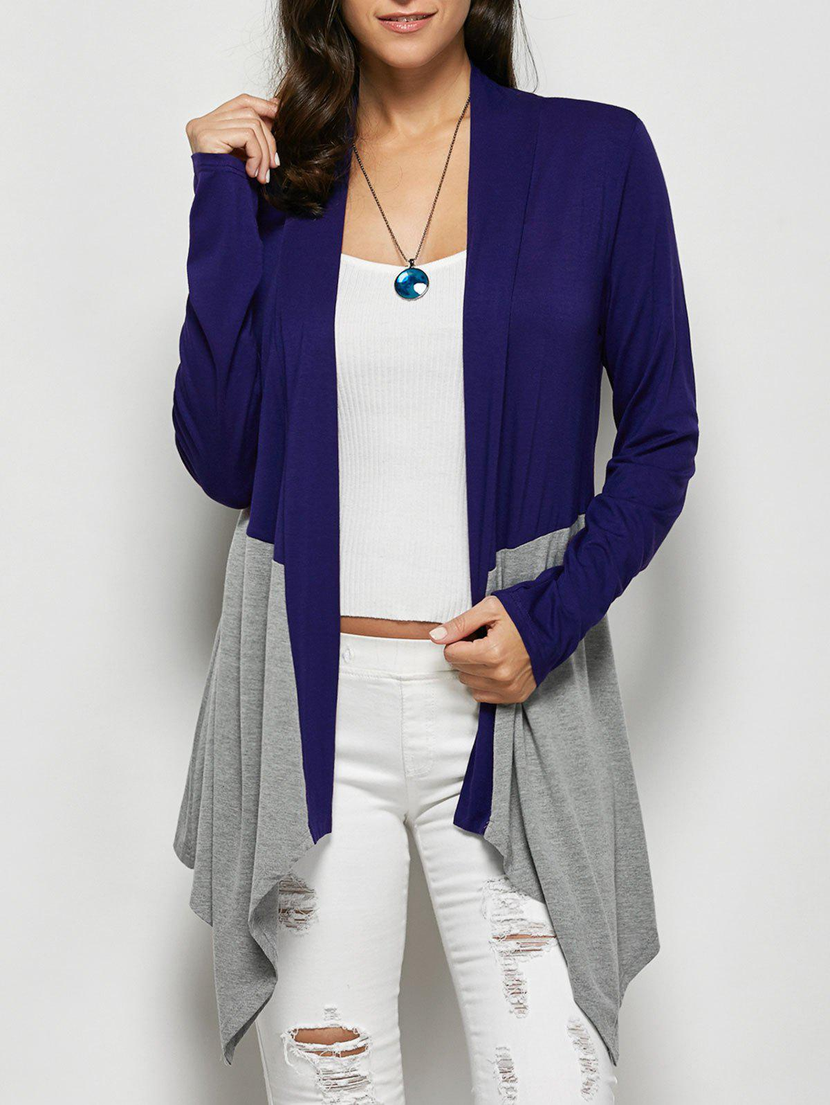 Open Front Asymmetrical Cardigan open front slimming asymmetrical cardigan