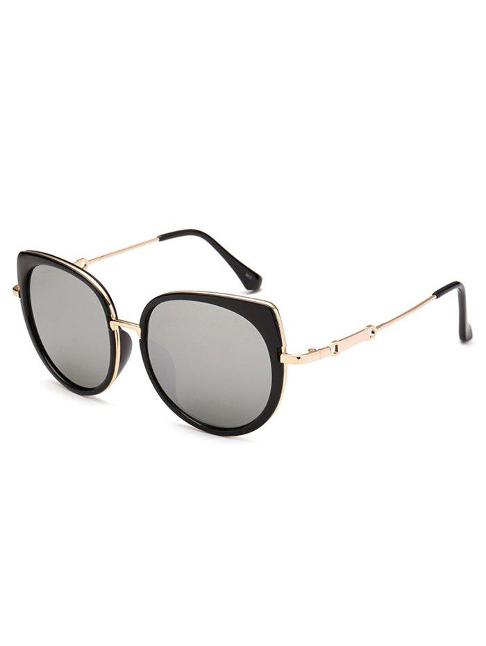 Polarized Cat Eye Mirrored Affordable Sunglasses - SILVER