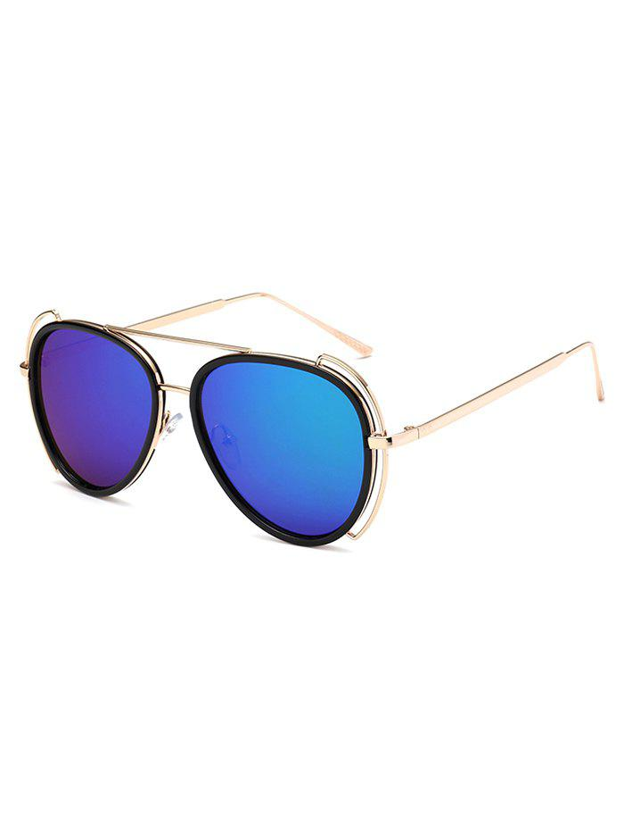 Hollow Out Frame Crossbar Pilot Mirrored Sunglasses hollow out frame crossbar pilot mirrored sunglasses