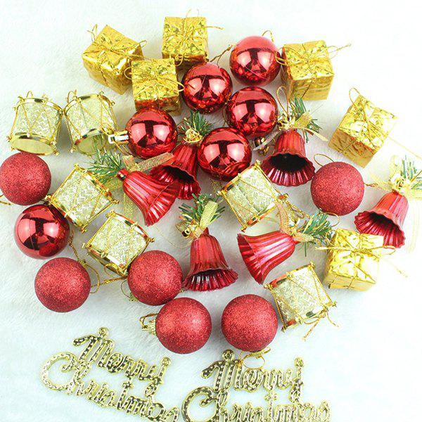 Christmas Decoration Xmas Tree Party Hangers Set - GOLD/RED