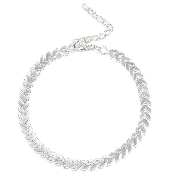 Chain Arrow Anklet - SILVER