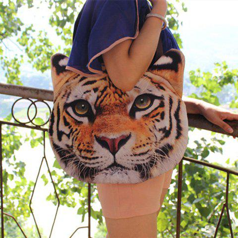 3D Print Animal Head Shaped Shoulder Bag - TIGER PRINT