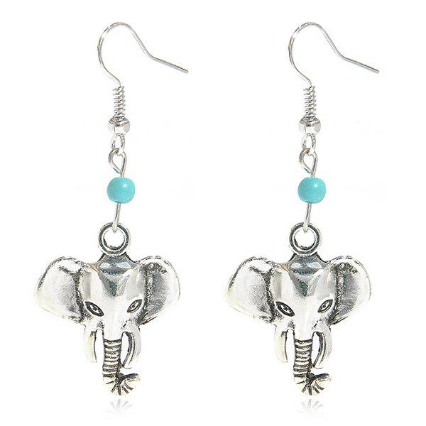 Faux Turquoise Elephant Earrings faux turquoise elephant layered necklace