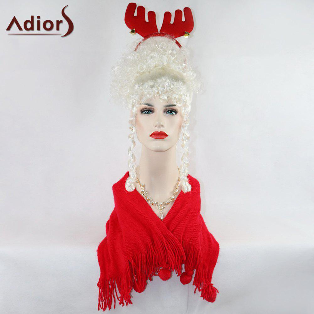 Adiors Curly Long Full Bang Party Christmas Synthetic Wig women s full length long curly synthetic