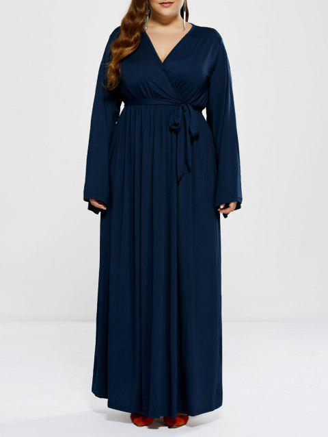 a624bd6c2df 17% OFF  2019 Plus Size Long Sleeve Modest Maxi Formal Dress In DEEP ...