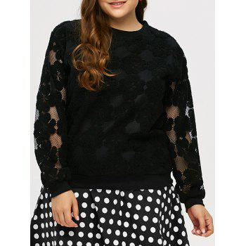Plus Size Floral Fleece Sweatshirt