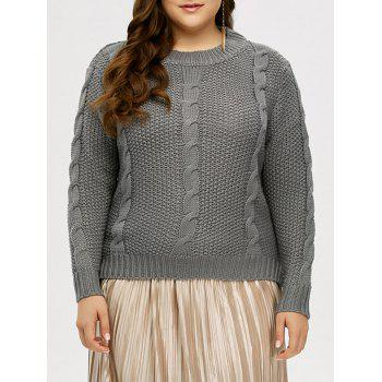 High Low Hem Cable Knit Sweater