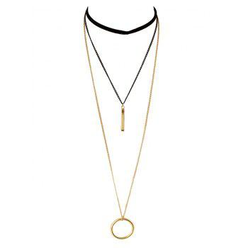 Circle Bar Layered Necklace