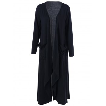 Open Front Plus Size Duster Cardigan
