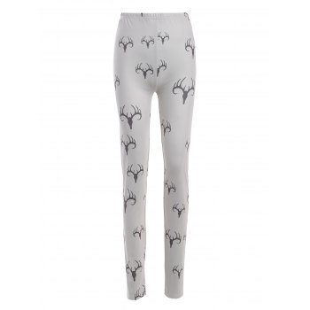 Plus Size Elastic Waist Printed Leggings
