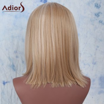 Women's Stylish Straight High Temperature Fiber Wig - COLORMIX